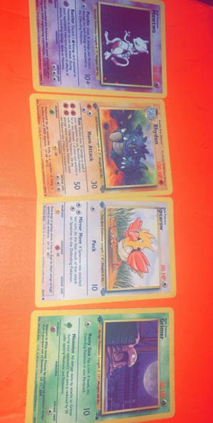 Four 1995 Pokemon Cards First editions for Sale in Lakeland, FL