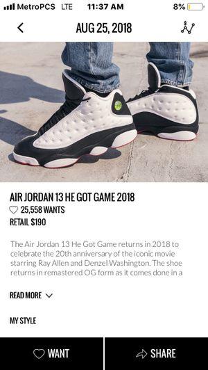 Jordan he got game 13s ds for Sale in Seattle, WA