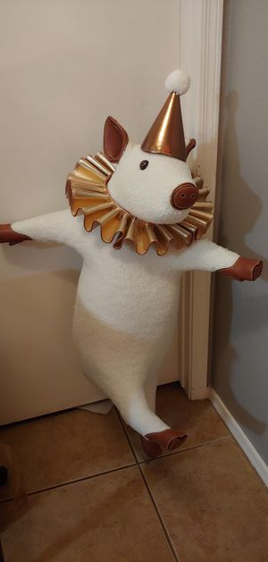 Party pig decor statue large plushie decoration accessory for Sale in Peoria, AZ