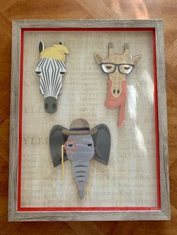 Safari animal wall decor picture for Sale in El Cajon,  CA