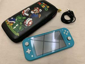 Nintendo Switch Lite HDH-001 Handheld Game Console Turquoise with case for Sale in Anaheim, CA