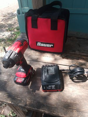 Bauer drill 1/4 hecho. 20 volt.good condition. for Sale in Donna, TX