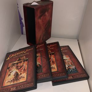 🎥 Indiana Jones collection for movies 🎥 The classic adventures of Indiana Jones it's never too old to watch it again for Sale in Inglewood, CA