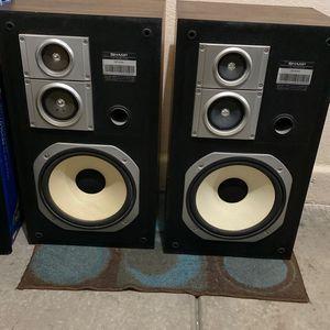 Sharp speakers model CP 6100 100 Watts & 8-ohm for Sale in Las Vegas, NV