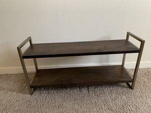 Wood and Metal Wall Mounted Shelf for Sale in Seattle, WA