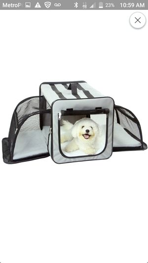 Pet Life Capacious Dual-Expandable Wire Folding Lightweight Collapsible Travel Pet Dog Crate for Sale in Plano, TX