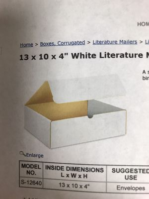 Shipping boxes - white for Sale in Waterloo, IA