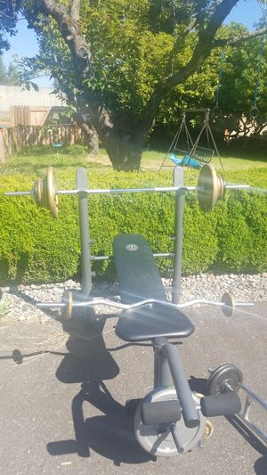Bars, Weights, Bench! for Sale in Vancouver, WA