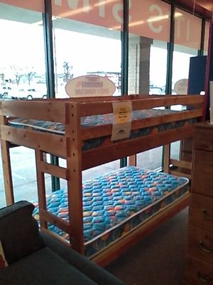 Solid Pine bunk bed (mattresses and Bunkie boards extra) for Sale in Latrobe, PA