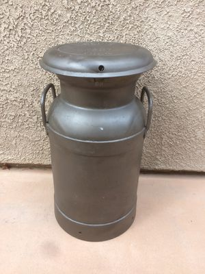 Selling a vintage metal milk container for Sale in Corona, CA