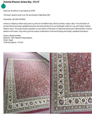 Oriental Rug for Sale in Bethesda, MD