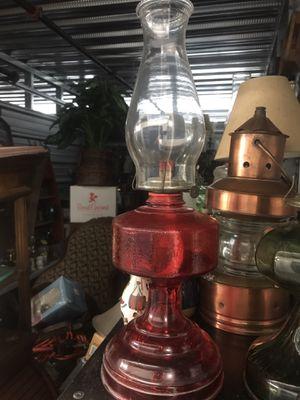 Antique Eagle Red oil Lamp for Sale in Virginia Beach, VA