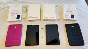 (2) Samsung Galaxy Tab A Tablets, 10.1 Screen + 2- SD cards 64/16 GB +2 Cases + Stand (Excellent Condition) for Sale in Elizabethtown, PA