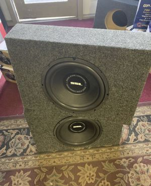 SSL car audio . 12 inch car stereo subwoofer with truck box. 800 watts each . New for Sale in Mesa, AZ