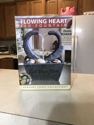 Flowing Heart led fountain!! for Sale in San Antonio, TX
