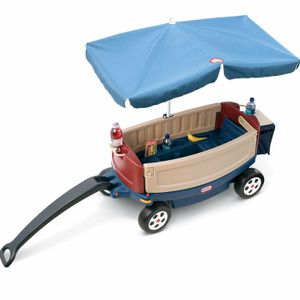 Kids WAGON- Excellent cond-Little Tikes - will take best offer- convertable bench, underneath storage, umbrella for Sale in Herndon, VA