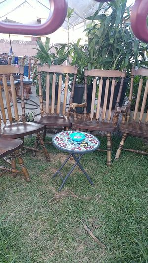 6 ANTIQUE SHAIRS SOLID WOOD for Sale in Pico Rivera, CA