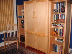 McKinnon solid maple bookshelves, computer armoire for Sale in Seattle, WA