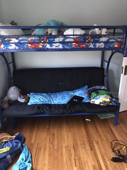 Blue Metal Bunk Bed for Sale in Columbus,  OH