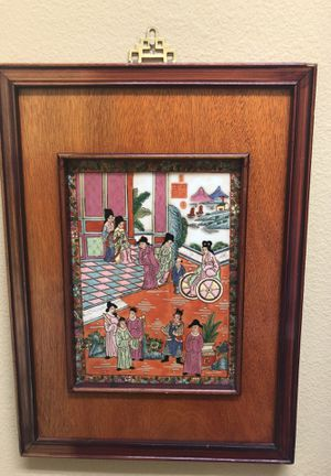 Chinese framed tile for Sale in Carlsbad, CA