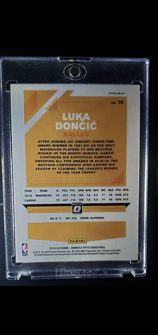 Rare Luka Doncic Panini Prizm Optic Holo