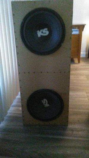 10 subs and box for Sale in Mesa, AZ