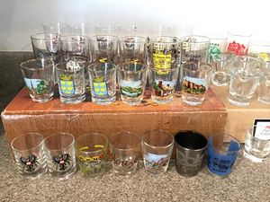Collection of 43 shot & cordial glasses from Germany, Hawaii, etc. for Sale in Gig Harbor, WA