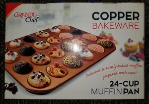 Grande Chef * Copper Bakeware * 24 Cup Muffin Pan * BRAND NEW for Sale in Woodinville, WA