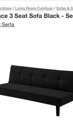 Black Futon Sofa for Sale in Norcross,  GA