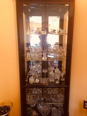 Corner glass chest for Sale in NO POTOMAC, MD