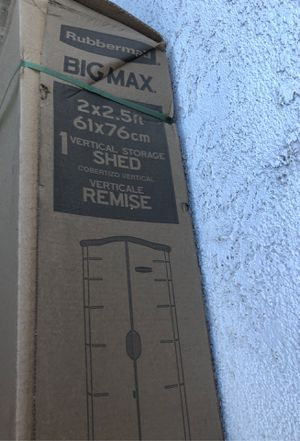 Big Max Rubbermaid shed - brand new - still in box for Sale in Chino, CA