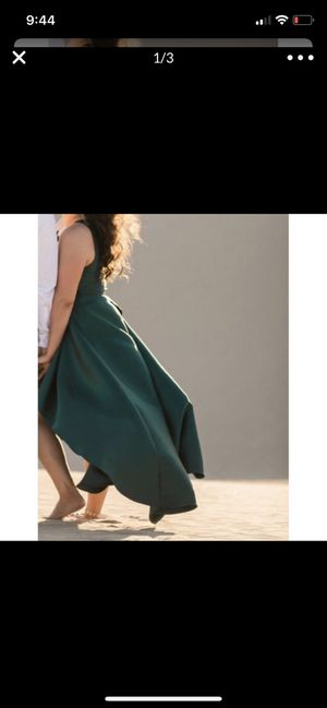 Emerald green hi low dress for Sale in Lakeside, CA