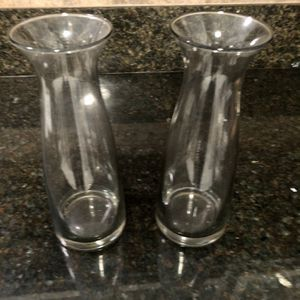 2 Vases 10 Inc Tall Light Tint Booth For $5.00 Great For Valentine's for Sale in Diamond Bar, CA