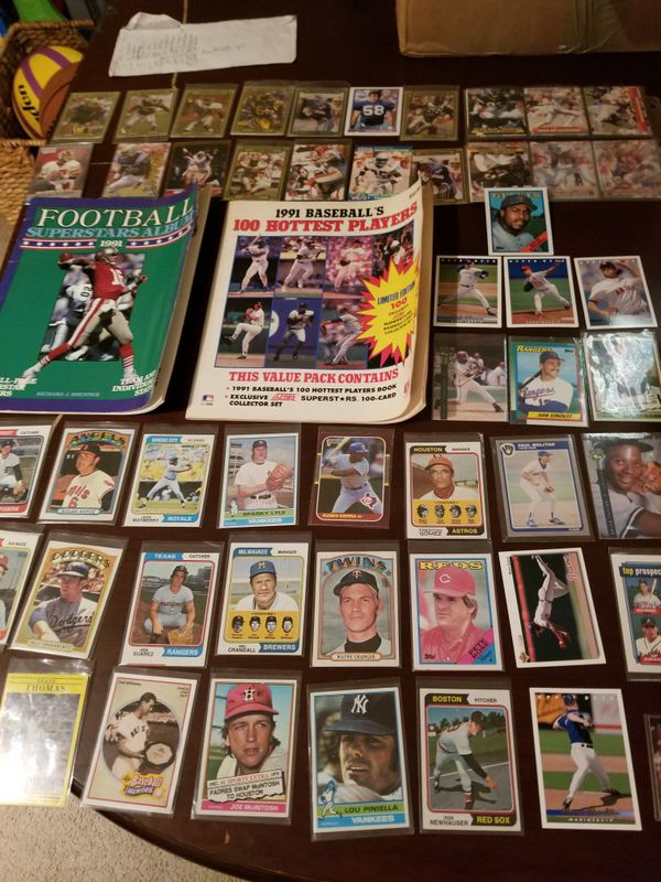 Over 200 Baseball and Football Cards