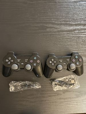 ps3 controller 2 pack doubleshock Wireless controller for Sony PlayStation 3 New condition black color (( without box )) for Sale in El Cajon, CA
