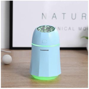 Mini Humidifier, 280ml Small Cool Mist USB Personal Ultrasonic Humidifiers with 7-Color Led Lights Changing For Bedroom Home Office Travel(Blue) Quie for Sale in Colonial Heights, VA