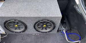 2 Kicker 10s with amp for Sale in Old Hickory, TN