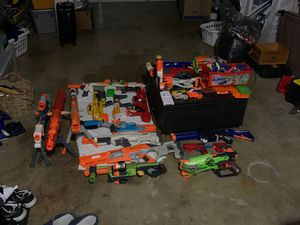 Nerf guns and attachments with bullets for Sale in San Pablo, CA