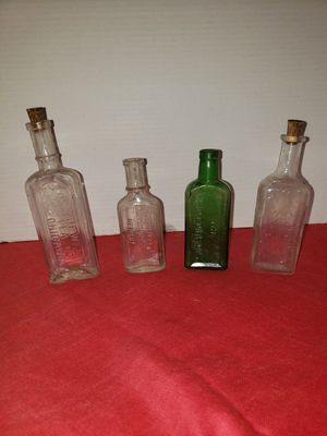 4 antique bottles (SEE ALL PICTURES) for Sale in Columbus, OH