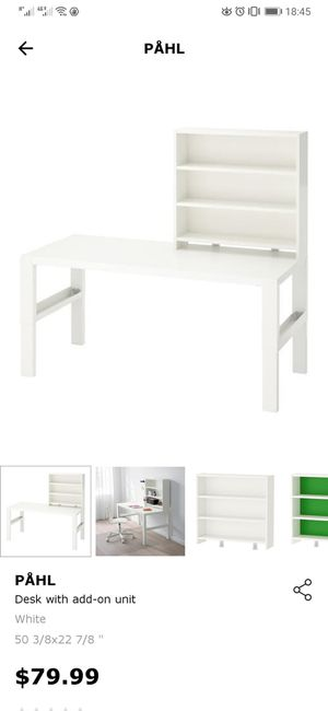 "IKEA PÅHL Desk, white 37 3/4x22 7/8 "" and add-on unit for Sale in West Sacramento, CA"
