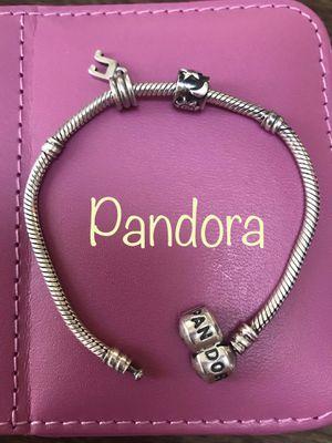 cc1e9bd2b Pandora 925 silver bracelet with 2 silver retired charms for Sale in  Virginia Beach, VA