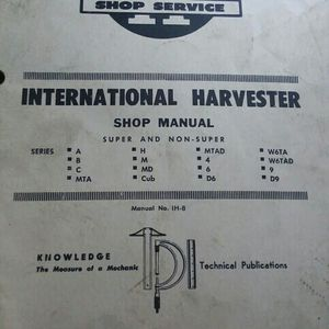 International Harvest Manual Shop for Sale in Valparaiso, IN