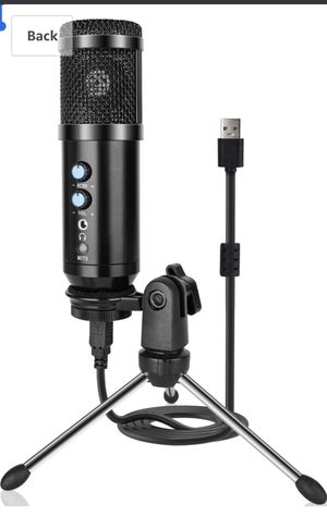 USB Microphone, Metal Condenser Recording Microphone for Laptop MAC or Windows Cardioid Studio Recording Vocals, Voice Overs,Streaming Broadcast and for Sale in Alhambra, CA