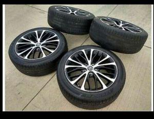 "18"" Toyota or Honda 2018 2019 OEM black wheels rims tires Size: 18x8 Lugs: 5 Bolt Pattern: 4.5 Inch for Sale in Philadelphia, PA"