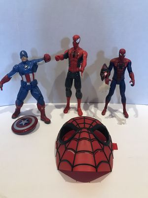 Spider-Man and Captain America Action Figures for Sale in Atco, NJ