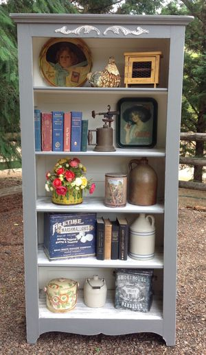 """Vintage Pantry Cabinet - Shelf - Bookcase """"Shabby Chic"""" for Sale in Hillsboro, OR"""