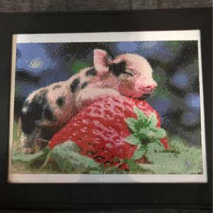 Strawberry Pig Diamond Art for Sale in Columbus, OH
