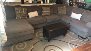 Gray couch with ottoman for Sale in Euless, TX