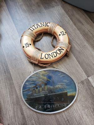 2 Piece Titanic Decor for Sale in Kodak, TN