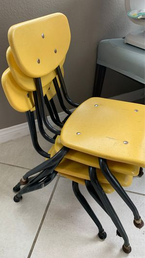 Kid size school chairs for Sale in Chino, CA